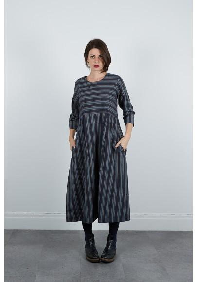 640-71 Robe rayée coton