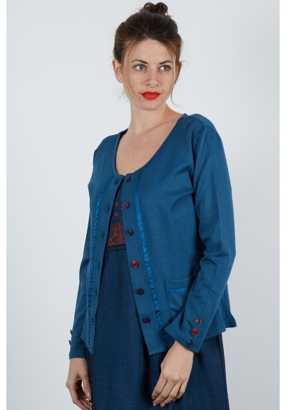590-623 Gilet maille jersey