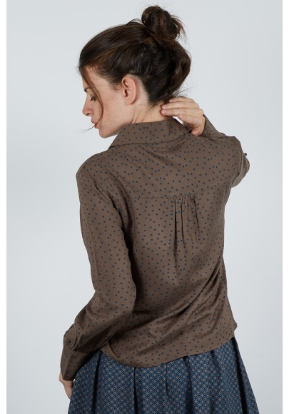 590-115 Blouse chemise viscose imprimée
