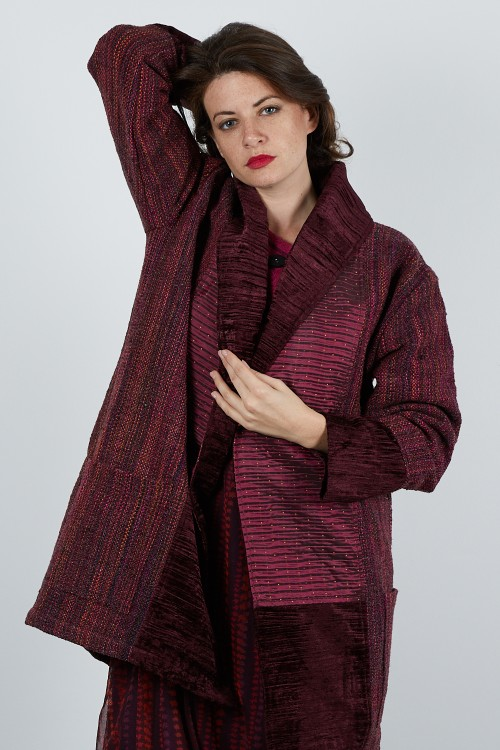 413-61 Veste Kimono laine tweed