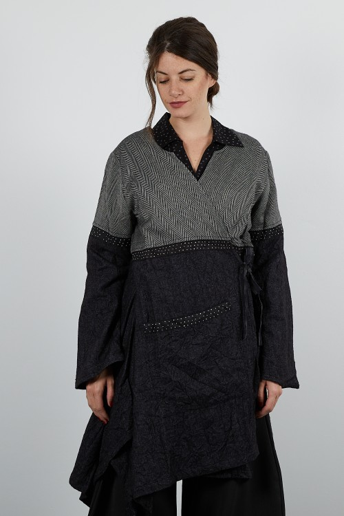 415-63 Manteaux laine froissé et croisé
