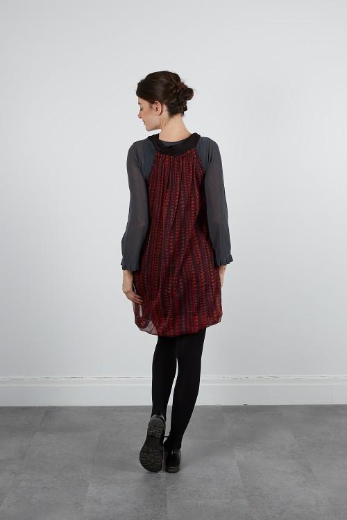 535-10 Robe Tunique tulle imprimée doublée