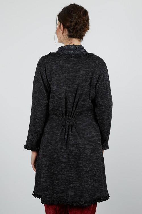 MUSE-611 Gilet long jersey chiné