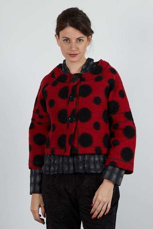 518-60 Boléro veste  laine bouillie