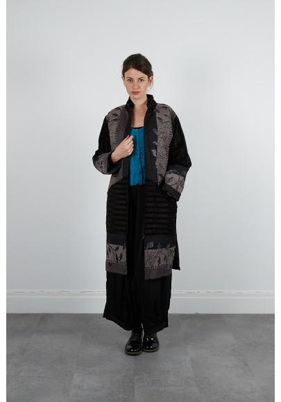 398-60 Manteaux long tapistry coton velours
