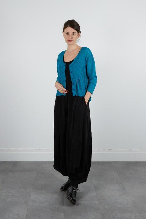 531-40 Pantalon large satin froissé