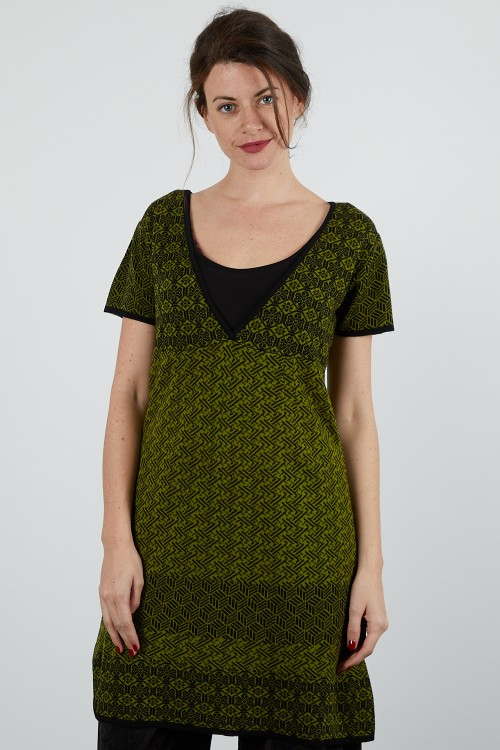 4714-70 Robe maille jacquard
