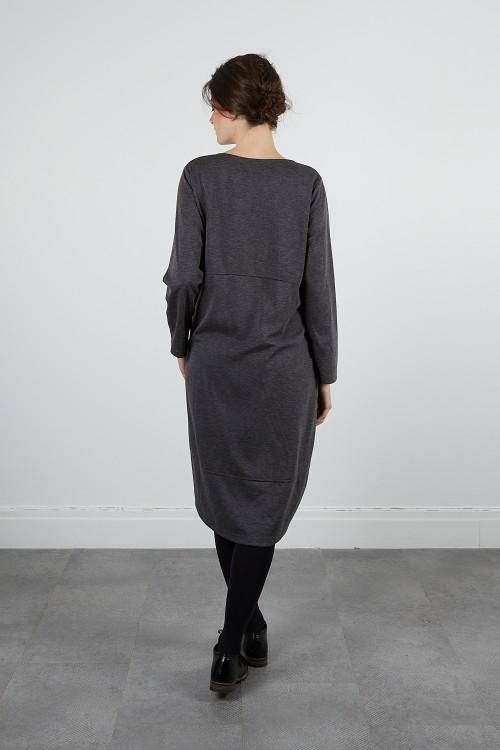 620-79 Robe jersey chinée