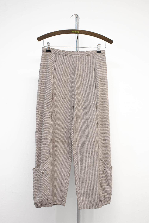 Pantalon rayé coton naturel - 680/43