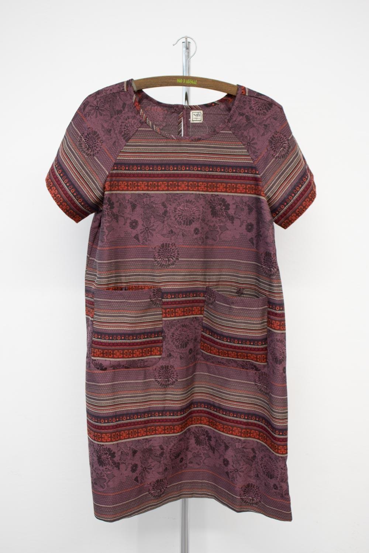 Robe tunique en jacquard tissé-650/78