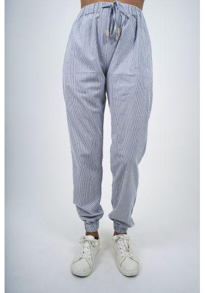 700-41 Pantalon coton rayé