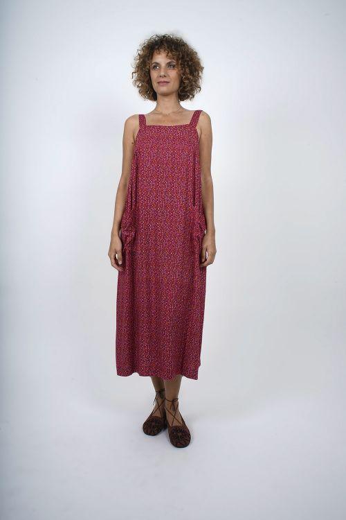 680-72 Robe Viscose imprimée