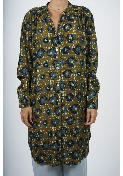 700-11  Robe Tunique Imprimée viscose