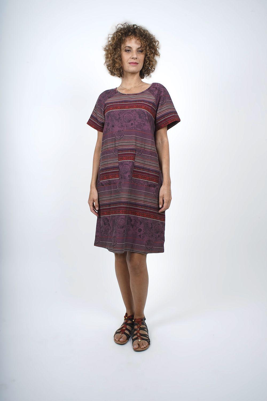 650-78 Robe tunique en jacquard tissé