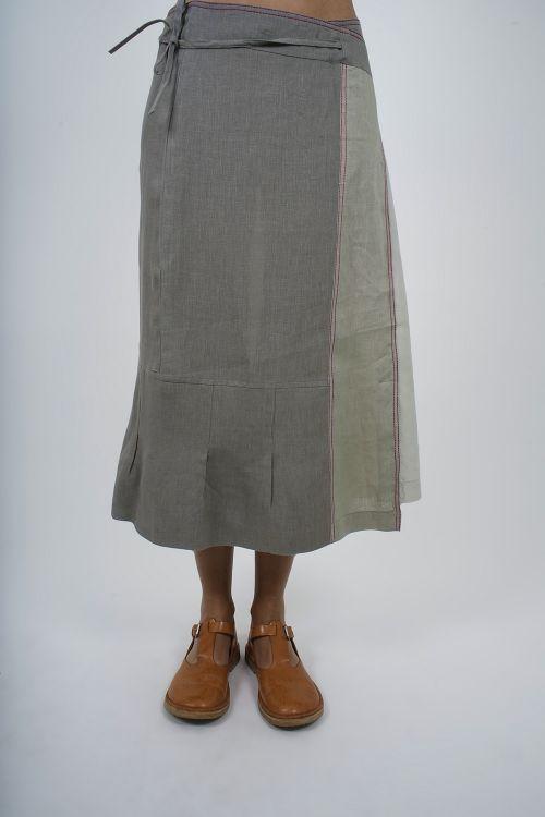 4613-30 Jupe jacquard coton lin