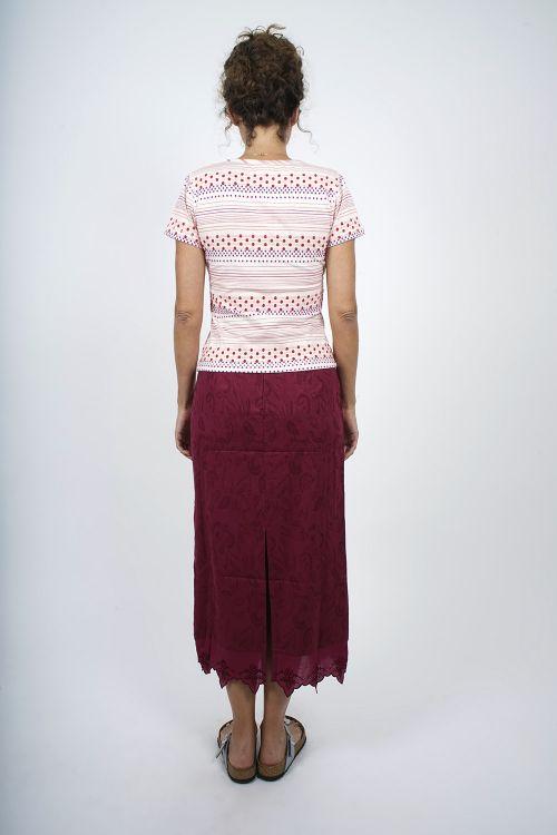 3014-31 Jupe Longue Coton jacquard