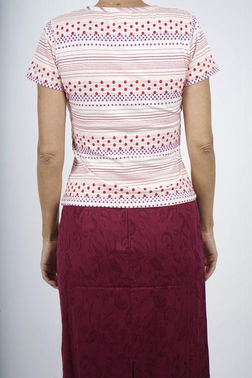 JUNE-13 T shirt coton jacquard pois
