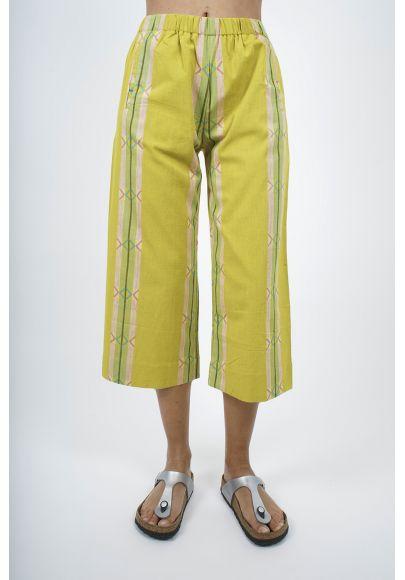 680/44 Pantalon court coton tissé main