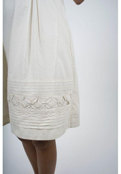 462-70 Robe voile de coton brodée doublée