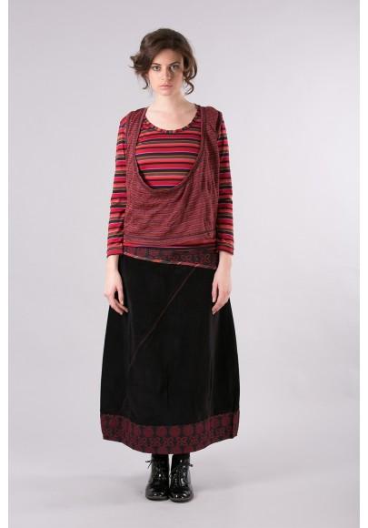 Pull T shirt 511/10/Noir-Rouge