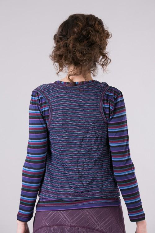 Pull T shirt 511/10/Prune-Bleu