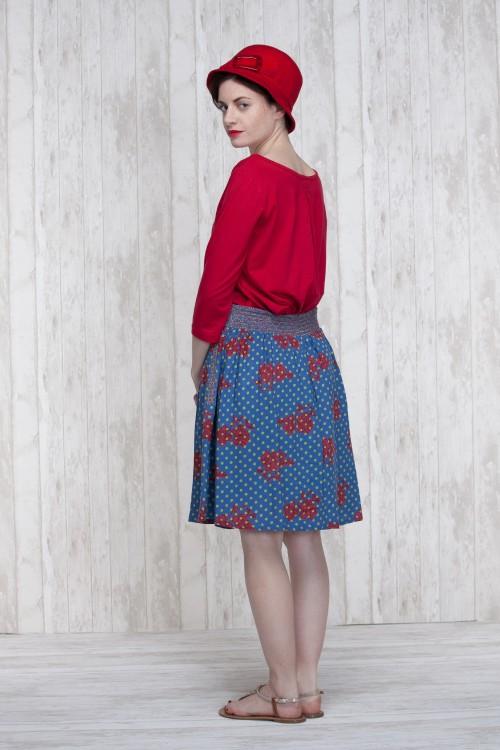 Skirt Blue-Olive  662-30