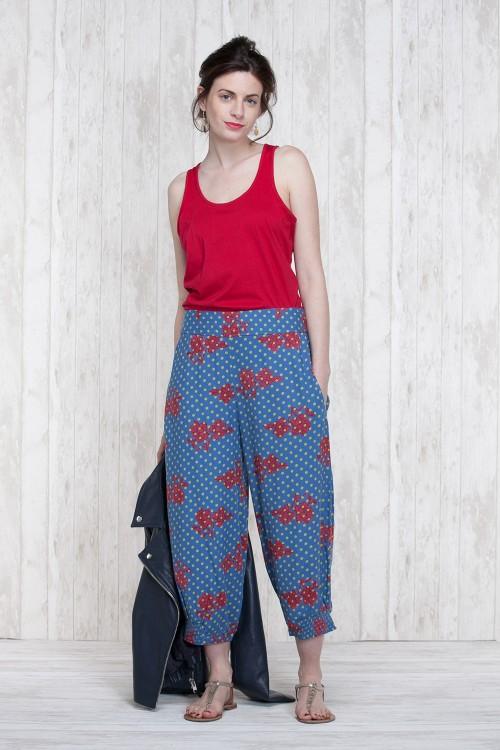 Pants Blue-Olive  662-40