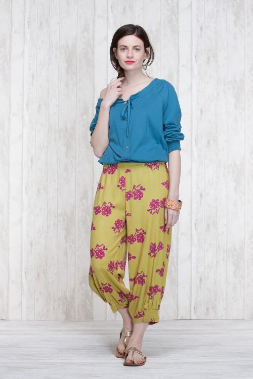 Pants Olive-Blue  662-40