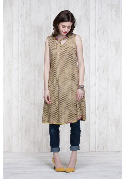 Reversible Dress Olive-Blue  662-76