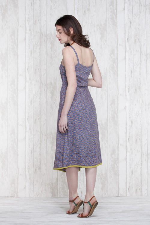 Robe Bleu-Olive  662-78