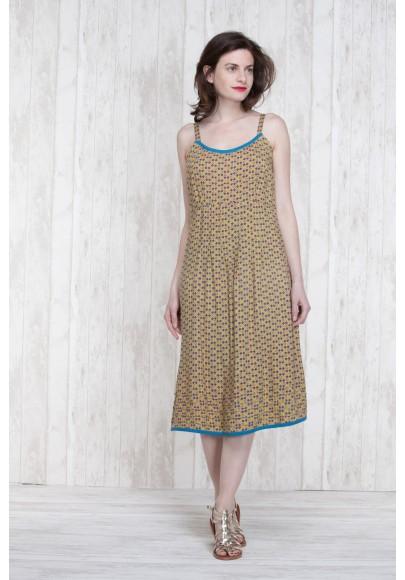 Robe Olive-Bleu  662-78