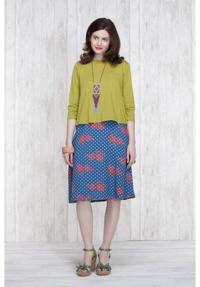 Reversible Dress Blue-Olive  662-76