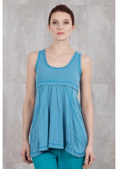 TUNIQUE  RAYEE turquoise-5411/10