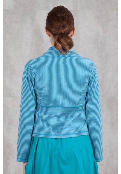 VESTE GILET JERSEY RAYE turquoise-5411/62