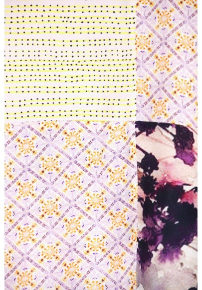 Blouse Patch multicouleur printemps-E16-10-VI-EKP
