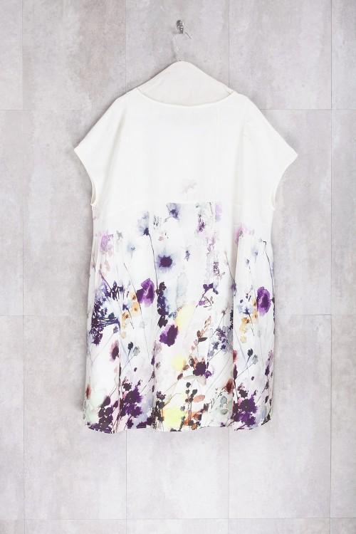Dress Print Spring Flowers-E16-72-VI-E