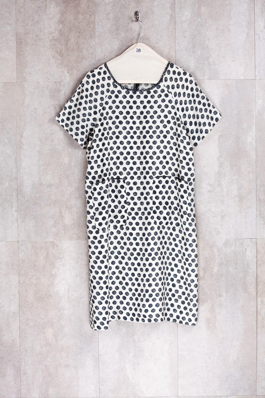 Dress Dot Print-E16-70-VI-G