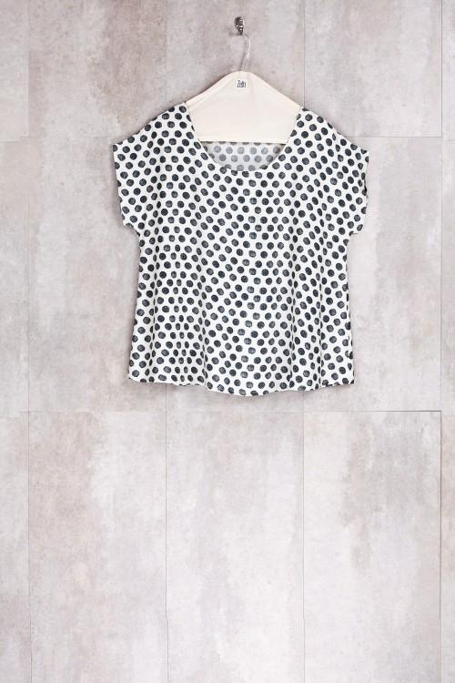 Blouse Dot Print-E16-11-VI-G