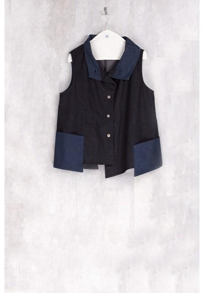 Blazer black bleu jean-H17-62-JS