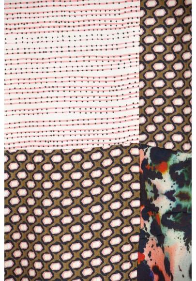 Blouse Patch imprimée multicouleur-E16-10-VI-IHQ