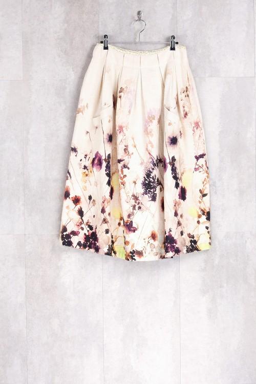 Skirt Print Spring Flowers-E16-30-CL-E