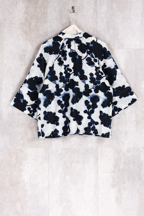 Blouse Print Flowers Blue-E16-10-CS-J
