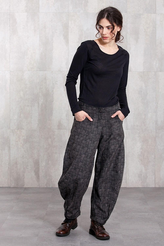 Pantalon velours imprimé digital -620/40