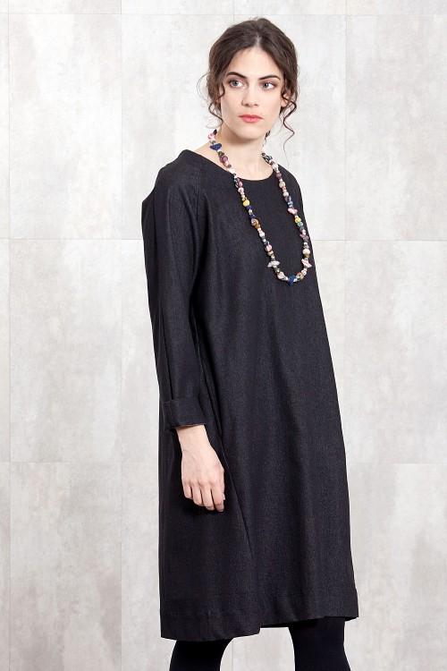 DENIM JEAN DRESS-H17-70JS